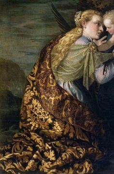Sadness and classic art, Le mariage mystique de Sainte Catherine, Detail. Close Up Art, Sainte Catherine, Italian Renaissance, Renaissance Costume, Old World Style, Italian Painters, Detail Art, Historical Costume, The Victim