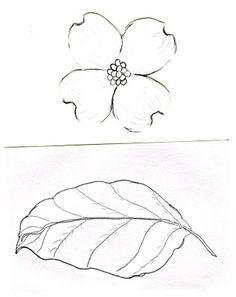 Dogwood flower outline...luv it!