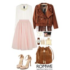 Romwe 9 by amra-f on Polyvore featuring moda, Derek Lam, Ted Baker, Vince Camuto, Triwa, Bobbi Brown Cosmetics, Hermès, Fall, 1d and romwe