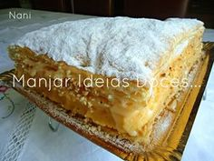 Portuguese Desserts, Portuguese Recipes, Sweet Recipes, Cake Recipes, Dessert Recipes, Cheesecakes, Flan, Cake Piping, Brownies