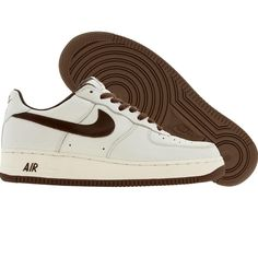 Nike Womens Nike Air Force 1 Low Premium (sail / brown) 309439-121