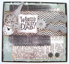 """Dawn Rene's Father's Day card she created using """"Authentique Renew Collection"""""""