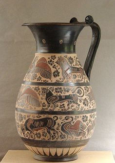ATTIC BLACK features iconic, handmade pottery showcasing the Grecian heritage & culture. Greek Pottery, Greek Art, Corinthian, Handmade Pottery, Attic, Mid-century Modern, Mid Century, Ceramics, Beautiful