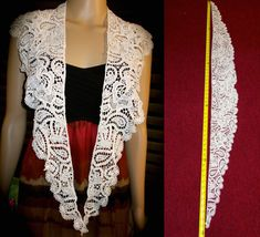 Vintage Beaded Shrug Pearl Shawl Beaded Collar by AnafrezNotions
