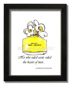 Daisy by Marc Jacobs Print of Perfume Bottle by  #Illustrate It! BaleaRaitzART, $19.99
