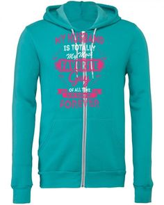 my husband is totaly my most favorite guy Zipper Hoodie