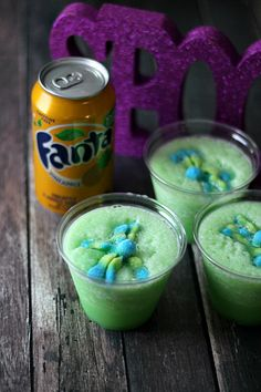 Swamp Slushies are a fun and refreshing Halloween treat.