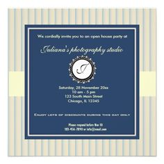 Open House New Business Personalized Invitation