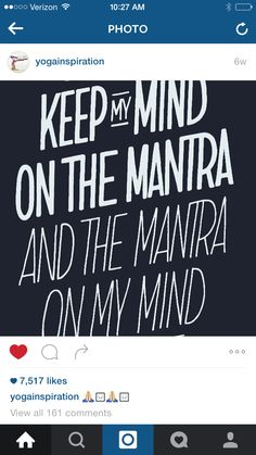 Mantra on my mind