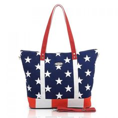 $14.91 Stylish Casual Rivets and Flag Pattern Design Women's Shoulder Bag