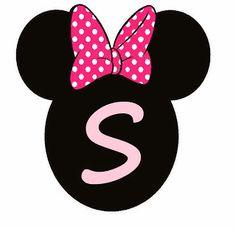Abc Rosa en Cabezas de Minnie. Minnie Heads Pink Abc. Minnie Mouse Birthday Theme, Theme Mickey, Minnie Mouse Pink, Mickey Party, Minnie Mouse Party, Disney Alphabet, Christmas Frames, Printable Letters, Happy Birthday Banners