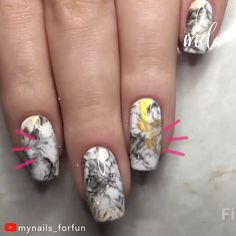 43 Jaw-Dropping Ways to Wear Marble Nails Nail Art Hacks, Gel Nail Art, Nail Art Diy, Nail Polish, Marble Nail Designs, Marble Nail Art, Nail Art Designs Videos, Nail Art Videos, Pretty Nail Art