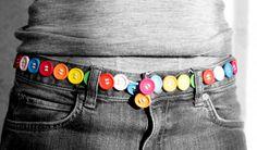 Como hacer un cinturon con botones realizando sencillas manualidades para niños