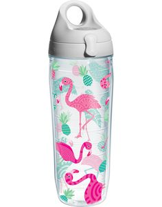 Flamingo Pattern - Wrap with Lid   Water Bottle   Tervis®