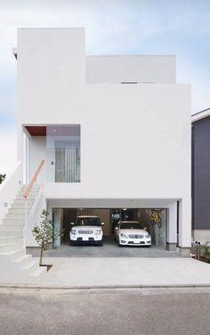 Apartment Architecture Exterior Entrance Ideas For 2019 Modern Minimalist House, Modern House Design, Japan Modern House, Apartment Entrance, Concrete Houses, Facade House, Apartment Design, Home Fashion, Exterior Design