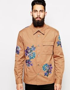 Enlarge PS by Paul Smith Shirt with Floral Embroidery Shirt Embroidery, Floral Embroidery, Spring Summer, Stylish Mens Outfits, Cool Jackets, Weaving Patterns, Paul Smith, Latest Fashion Clothes, Streetwear