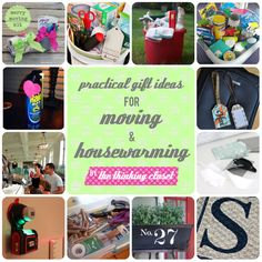 Practical Gift Ideas for Moving & Housewarming | Moving can be a stressful time, especially if you're moving away from friends, family, and all that you know. Bring some cheer with these practical moving and housewarming gift ideas!