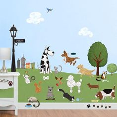 Paws Park Cat and Dog Wall Sticker Decal Kit - JUMBO SET