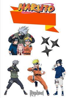 topper Naruto Clássico Naruto Birthday, Mickey Birthday, Birthday Crafts, Birthday Parties, Anime Naruto, Naruto Kakashi, Naruto Art, Bolo Budweiser, Bolo Do Naruto
