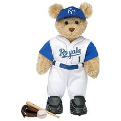 Curly Teddy in Kansas City Royals™ Uniform - Build-A-Bear Workshop US $46.50
