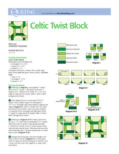 celtic twist quilt - Google Search