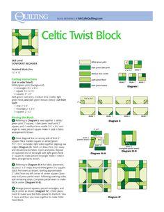 celtic twist quilt - Google Search                                                                                                                                                     More