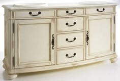 master Muebles Living, Winter White, Double Vanity, Buffet, Cabinet, Storage, Furniture, Home Decor, Pretty