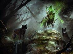 Spirit of the Hunt - Eldritch Moon MtG Art