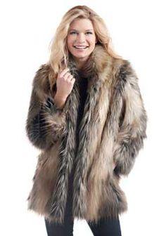 7ff3fdffda2c Red Fox Shawl Collar Faux Fur Jacket - 1