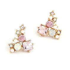 Bubblegum Jewel Cluster Earrings