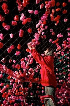 the coolest floral installation - in progress