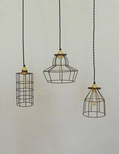 Vintage pendant trouble light bulb guard wire cage ceiling hanging simple industrial wire cage pendant ceiling light mozeypictures Image collections