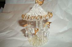 Vintage Spun Glass Carousel by Castawayacres on Etsy