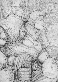Soul Searching in Soul Saga by Stephen Platt. Met him at Fan Expo. Comic Book Pages, Comic Book Artists, Comic Artist, Comic Books Art, Character Sketches, Comic Character, Character Design, Fantasy Heroes, Fantasy Art