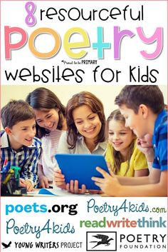 8 poetry websites for kids that will build a love for poetry! Use these websites to teach kids how to write poems and about different poetry styles. Great for your poetry unit and Poetry month! #teachingpoetry #poetrymonth #poetryforkids #poetrywebsites