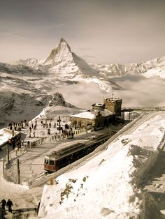 Kornergrat station overlooking the Matterhorn out of Zermatt.