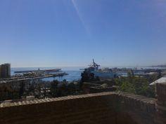 Vistas desde La Alcazaba a la Bahía malagueña