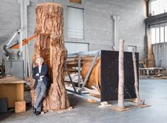 Artist Giuseppe Penone, at the FREE Fendi gallery in EUR through July 15, 2017 (he's also at the Gagosian Gallery!)