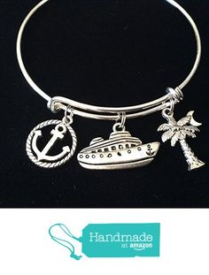 Cruise Ship Anchor Palm Tree Silver Expandable Charm Bracelet Adjustable Bangle Worker Gift Retirement from Jules Obsession http://www.amazon.com/dp/B01EPBBLPC/ref=hnd_sw_r_pi_dp_xvSuxb077NJR6 #handmadeatamazon
