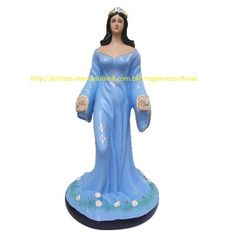 Escultura Iemanja Rainha Do Mar Linda Imagem 30cm Fabrica Ml - R$ 59,99 no MercadoLivre