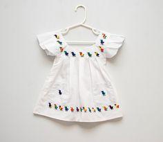 little vintage embroidered dress