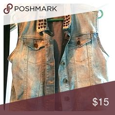 Jean vest jacket really Very good for layering over jackets, really good condition, only worn a few times Jackets & Coats Vests