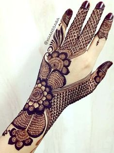 Mehndi Design Offline is an app which will give you more than 300 mehndi designs. - Mehndi Designs and Styles - Henna Designs Hand Henna Hand Designs, Arabic Bridal Mehndi Designs, Mehndi Designs Finger, Full Hand Mehndi Designs, Mehndi Designs 2018, Modern Mehndi Designs, Mehndi Design Pictures, Tattoo Designs, Mehndi Images