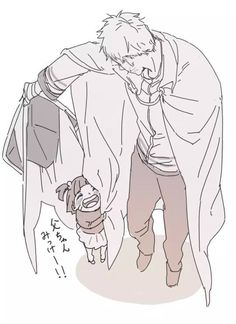 """Daddy found me!"" Naruto and Himawari"