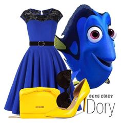 """""""Dory~ DisneyBound"""" by basic-disney ❤ liked on Polyvore featuring Love Moschino, Tiffany & Co., INC International Concepts and Vero Moda"""