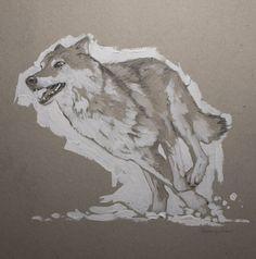 Wolf Drawing by Oleksii Gnievyshev Animal Drawings, Art Drawings, Art Journal Tutorial, Fine Art Drawing, Art Projects For Teens, Art Journal Inspiration, Buy Art, Saatchi Art, Original Art