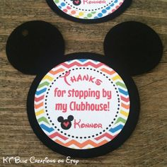 Mickey Mouse Clubhouse Favor Tags Thank You by ktbluecreations