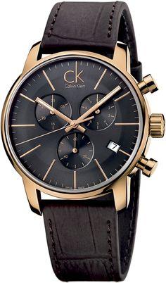 Calvin Klein CITY chrono rosé K2G276G3 Herrenchronograph