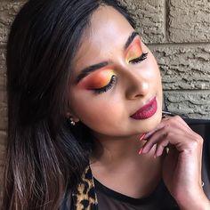 "Chermel's World 💖| SA Youtuber on Instagram: ""Sunset eyes using @the_beauty_co_za #tropicalpalette . One of my favorite eye color combinations . ☀️ ❣️ . . . . . . ☀️ @kikibeautysa primer…"""