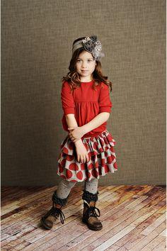 Red Dot Audrey Skirt
